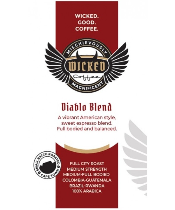 Wicked Coffee Diablo Blend Beans 250g