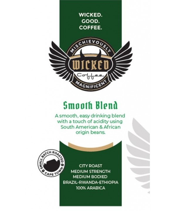 Wicked Coffee Smooth Blend Beans 1kg