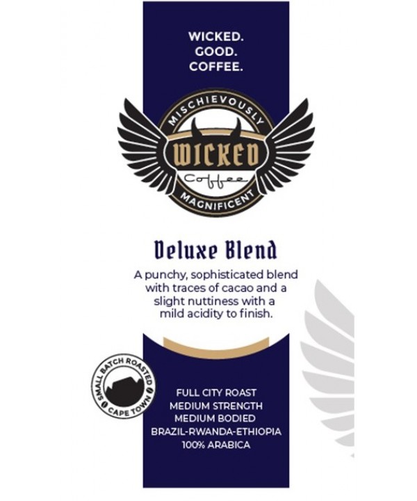 Wicked Coffee Deluxe Blend Beans 1kg