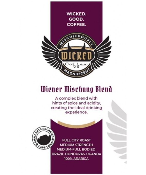 Wicked Coffee Wiener Mischung Blend Beans 250g