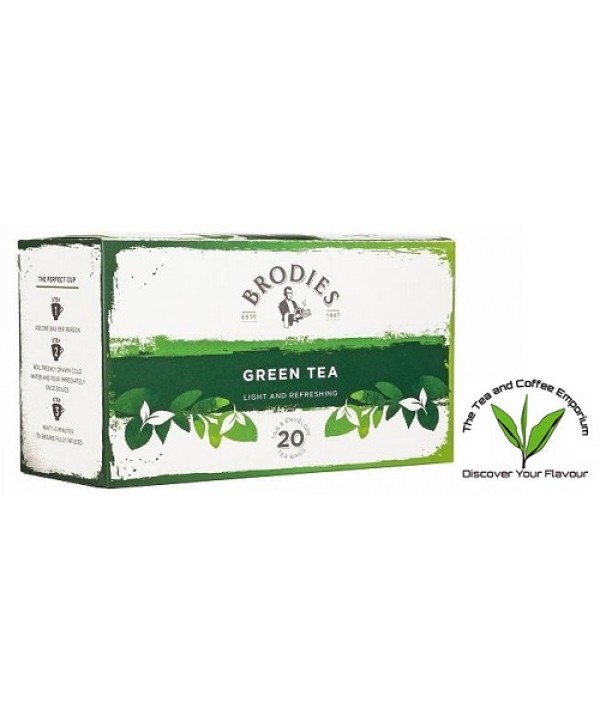 Brodies Green Tea 20's Enveloped
