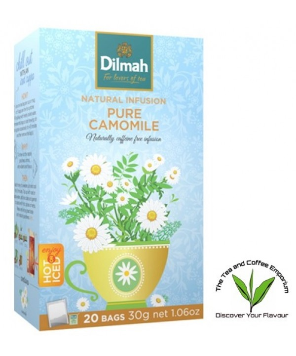 Dilmah Pure Camomile Flowers Teabags 20's Tagged