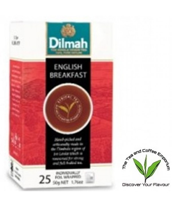 Dilmah English Breakfast Teabags 25's Enveloped