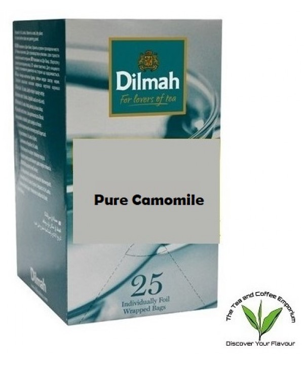 Dilmah Pure Camomile Flowers Teabags 25's Envelope...