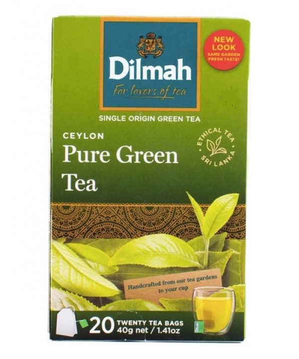 Dilmah Ceylon Pure Green Tea - 20's Tagged