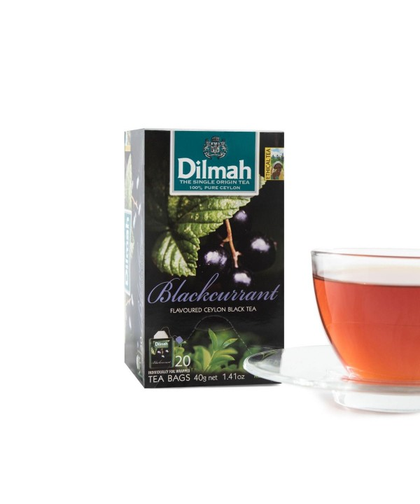 Dilmah Blackcurrant Teabags 20's Tagged