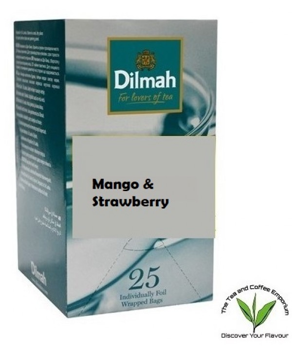 Dilmah Mango & Strawberry Flavoured Teabags 25...