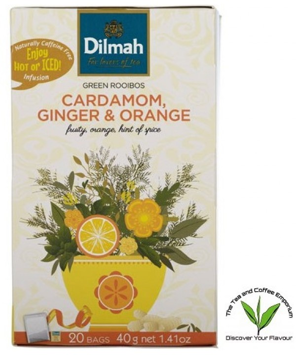 Dilmah Cardamon, Ginger & Orange Green Rooibos...