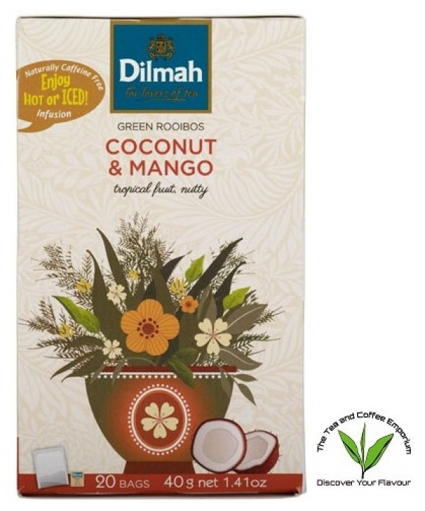 Dilmah Green Rooibos Coconut & Mango 20's