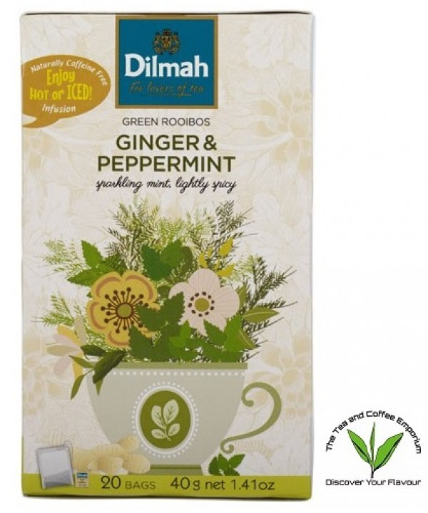 Dilmah Green Rooibos Ginger & Peppermint 20's