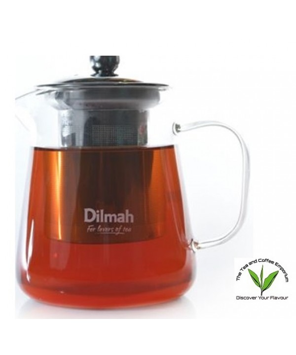Dilmah Endane Contemporary Glass Tea Pot With S/s ...