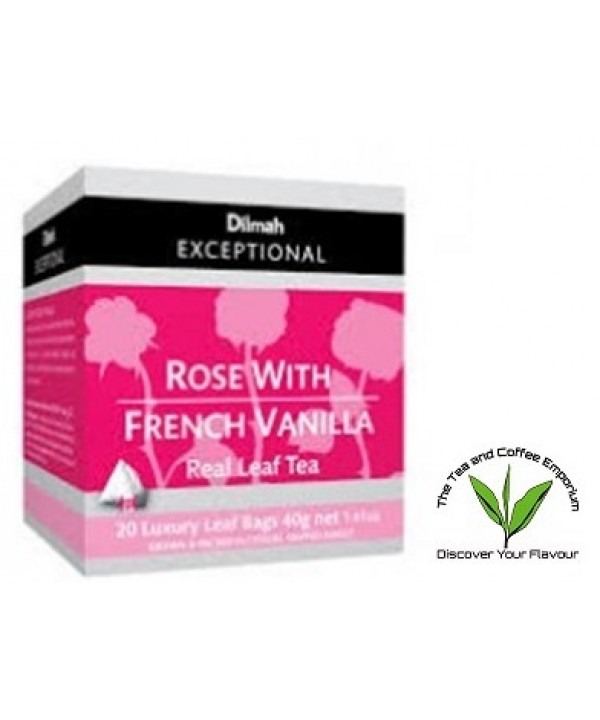 Dilmah Rose with French Vanilla Teabags 20's