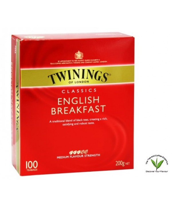 Twinings English Breakfast Tea 100's