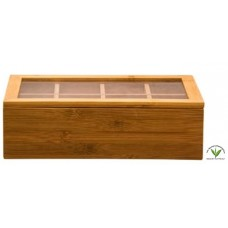 Regent Bamboo Tea Box 8 Slot - Unfilled