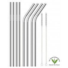 Stainless Steel Straws - 8's