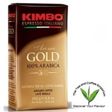 Kimbo Espresso Gold 100% Arabica Coffee Ground 250g