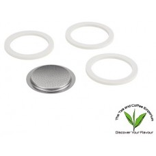 Bialetti Rubber Rings & Filter Plate 1 & 2 Cup