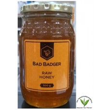Bad Badger Raw Honey 500g Glass Jar