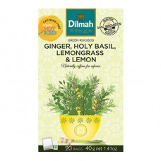 Dilmah Green Rooibos with Holy Basil, Ginger, Lemon & Lemongrass 20's