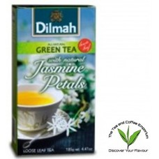 Dilmah Green Tea with Natural Jasmine Petals Loose Leaf Tea 125g