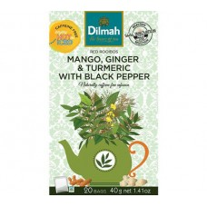 Dilmah Rooibos with Mango, Ginger, Tumeric & Black Pepper 20's - Tagged & Enveloped