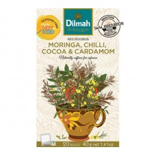 Dilmah Rooibos with Moringa, Chilli, Cocoa & Cardamom 20's - Tagged & Enveloped