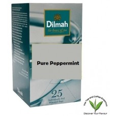 Dilmah Pure Peppermint Leaf Teabags 25's Enveloped