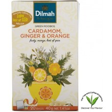 Dilmah Green Rooibos Cardamon, Ginger & Orange 20's