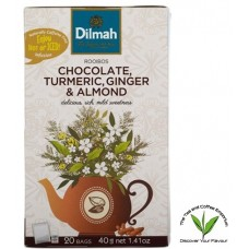 Dilmah Rooibos with Chocolate, Tumeric, Ginger & Almond  20's - Tagged & Enveloped
