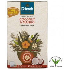Dilmah Green Rooibos Coconut & Mango 20's - Tagged & Enveloped