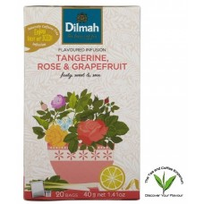 Dilmah Infusion with Tangerine, Rose & Grapefruit 20's - Tagged