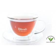 Dilmah Endane Double Wall Glass Cup and Saucer