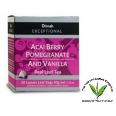 Dilmah Acai Berry Pomegranate and Vanilla Teabags 20's
