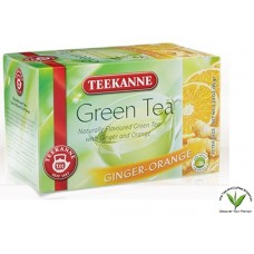 Teekanne Green Tea with Ginger-Orange 20's