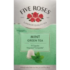 Five Roses Mint Green Tea Nespresso Compatible Capsules - 10's